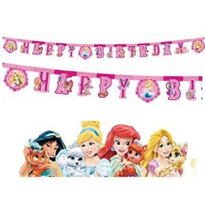 Guirlande lettres Happy Birthday Disney Princesses Dreaming