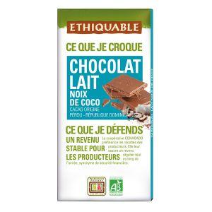 Ethiquable Chocolat lait noix de coco BIO 100g
