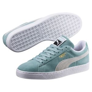 Puma Suede Classic, Sneakers Basses Mixte Adulte, Vert (Aquifer White), 44 EU