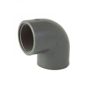 Ezfitt Coude 90° Femelle / Femelle à visser en PVC - Ø 1 pouce 1/2