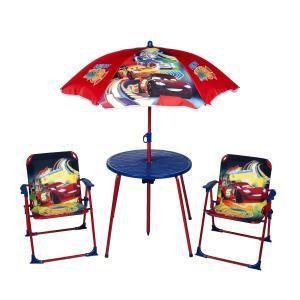 Logitoys Salon de jardin avec parasol Cars