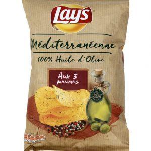 Lay's Chips recette méditérranéenne 3 poivres - Le paquet de 120g