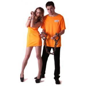 Déguisement couple prisonnier orange (taille S)