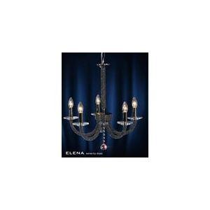 Diyas Suspension Elena 5 ampoules en métal et cristal