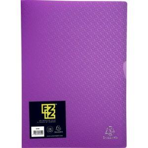 Exacompta 85394E - Protège-documents FIZZ 60 vues, polypro, violet