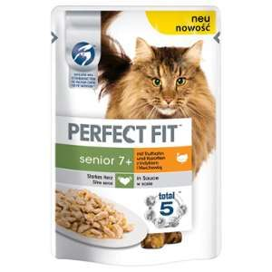 Perfect fit Senior pour chat - Dinde carottes 12x 85 g