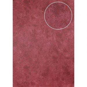 Atlas Papier peint aspect pierre carrelage ICO-3705-4 papier peint intissé lisse moucheté satiné rouge rouge-rubis 7,035 m2