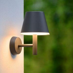 Lucide Applique extérieure abat-jour Josy LED IP44 - Noir