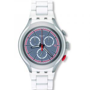 Swatch Homme Digital Quartz Montre avec Bracelet en Aluminium YYS4019AG