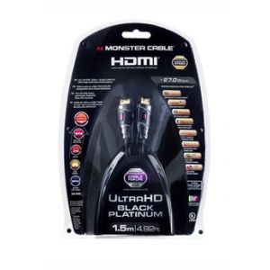 Monster Cable 140747-00 - Câble HDMI Black Platinum 1,5m