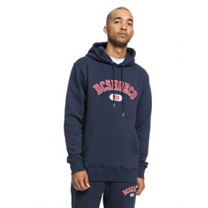 DC Shoes Sweat a capuche glenridge bleu marine rouge m