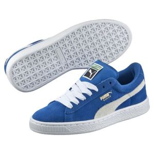 Puma Suede Jr, Baskets Basses Mixte Enfant, Bleu (Snorkel Blue-White 02), 38.5 EU