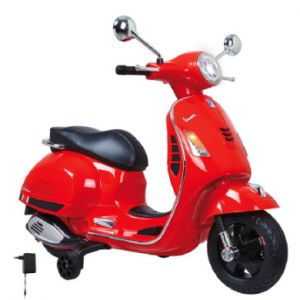 Jamara Trottinette électrique 6 V Ride-on Vespa rouge
