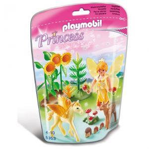 Playmobil 5353 Princess - Fée de la forêt avec poulain ailé Goldstaub