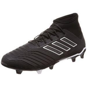 Adidas Predator 18.2 FG, Chaussures de Football Homme, Noir (Negbás/Ftwbla 000), 44 EU