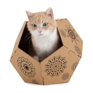 United Pets Abris en carton pour chat Tiger