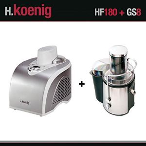 H.Koenig HF180 - Turbine à glace 1 L + GS8 - Centrifugeuse