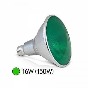 Vision-El Ampoule LED 16W (150W) E27 PAR38 IP65 Couleur Vert