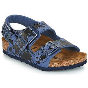 Birkenstock Milano, Sandales Bride Arriere Garçons, Bleu (Colour Sprays Blue Colour Sprays Blue), 34 EU