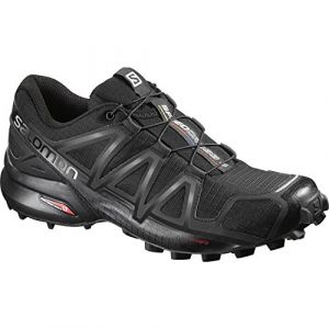 Salomon Femme Speedcross 4 Chaussures de Trail Running, Noir (Black/Black/Black Metallic), Taille: 40