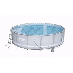 Bestway Kit piscine ronde Power Steel Frame Pool Ø 427 x H 107 cm