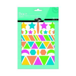 Maildor Gommettes Baby fluo formes géométriques