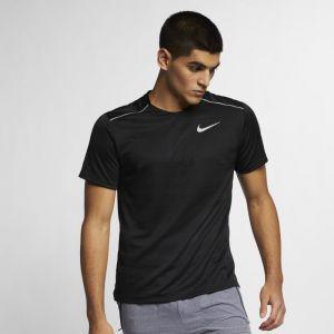 Nike Haut de runningà manches courtes Dri-FIT Miler pour Homme - Noir - Taille L - Homme