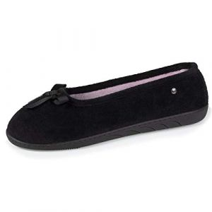 Isotoner Chaussons 97212 Noir - Taille 36,37,38,39,40