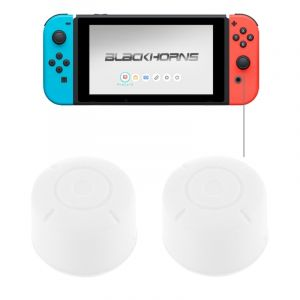 Nintendo Pour Switch Game Bouton Blanc Silicone Caps Housse De Protection 2 Pcs