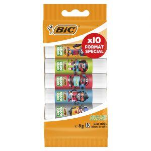 Bic 951341 Stick Ecolution Pack de 10 Colle décorée 8 g