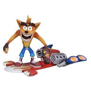 Neca Crash Bandicoot - Action Figure - Deluxe Hoverboard Crash - 18cm [Figurine]