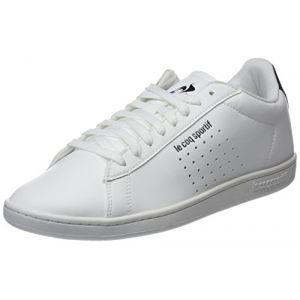 Le Coq Sportif Courtset Sport Optical White/Dress Blue, Baskets Hommes, Beige Blanc, 44 EU
