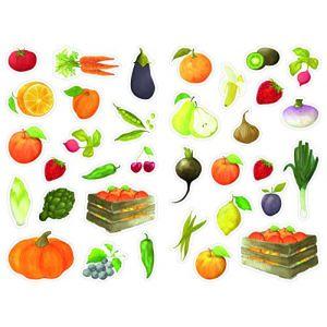 Maildor Gommettes Mimi stick, fruits et légumes / 408 - 12 planches 16 x 21cm