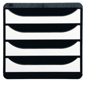 Exacompta 3104213D - Big-Box Glossy, coloris noir/blanc brillant