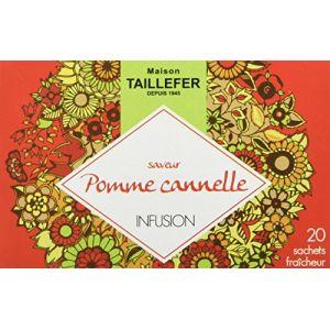 Maison Taillefer Infusion Pomme Cannelle En Boite De 20 Sachets Individuels