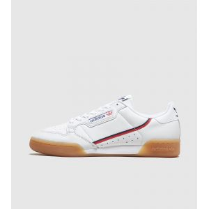 Adidas Continental 80, Basket Homme, Rose Crystal White/Collegiate Navy/Scarlet, 43 1/3 EU