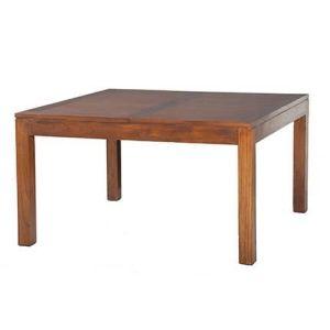 Table à manger carré à rallonge Madrid en bois