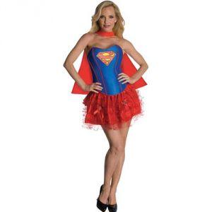Déguisement Supergirl sexy bustier tutu femme