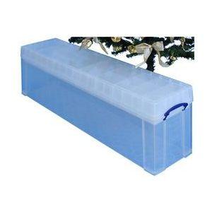 Really useful box 77CCB - Boîte de rangement en plastique 77 litres, en PP recyclé transparent