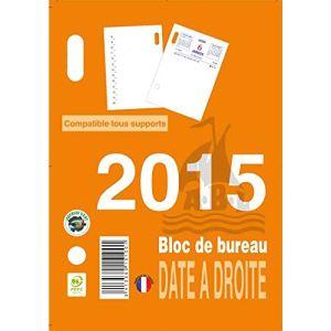 Abl Bloc éphéméride 2012 date à droite (8 x 10,5 cm)