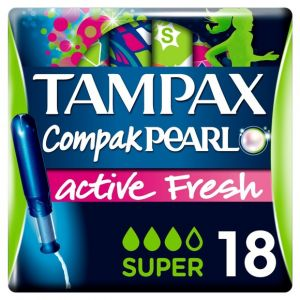 Tampax Tampons Pearl Active Fresh super