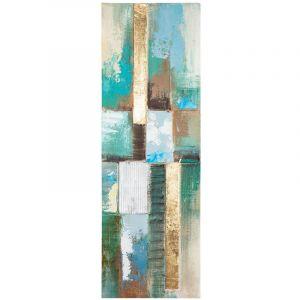Atmosphera Toile Peinture en relief Abstrait Bleu 30 x 90 cm
