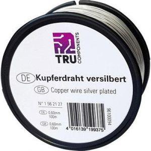 Tru Components KUPFERDRAHT VERSILBERT 1,2 MM 30 M