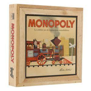 Hasbro Monopoly série Nostalgie en bois