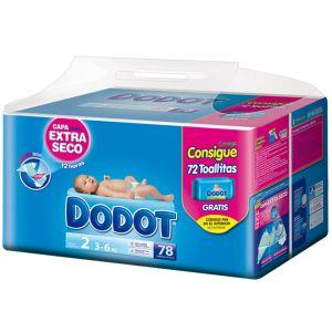 Dodot Couche taille 2 (3-6 kg) - paquet de 78