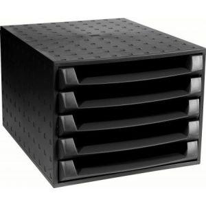 Exacompta 221014D - The Box noir 5 tiroirs ouverts