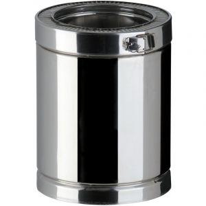 Poujoulat Elément droit THERMINOX TI , diamètre 180 mm ,Lg: 45 cm Réf. ED 450 180 TI / 21180004
