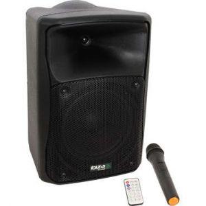 Ibiza Sound Ibiza Mov8 CD Systeme sono portable autonome avec cd, usb, sd, bluetooth et micro vhf 8/ 20cm 150W