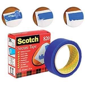 Scotch Ruban à cacheter - Aadhésif bleu pour enveloppes