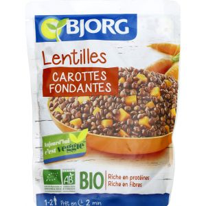 Bjorg Lentilles carottes, bio